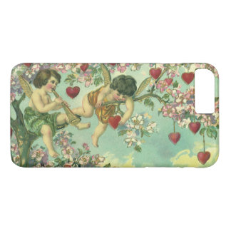 Coque iPhone 8 Plus/7 Plus Arbre victorien vintage de coeur de cupidons de