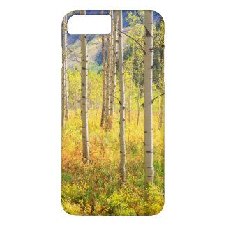 Coque iPhone 8 Plus/7 Plus Arbres d'Aspen en automne dans les Rocheuses