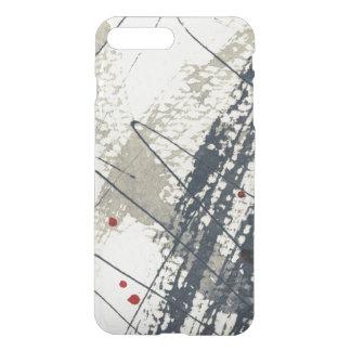 Coque iPhone 8 Plus/7 Plus Arrière - plan grunge abstrait, texture d'encre. 2
