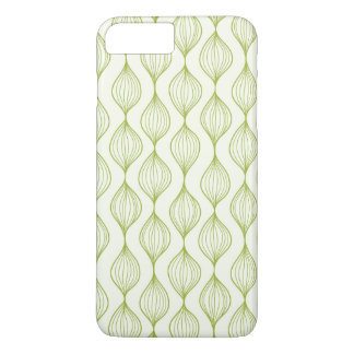 Coque iPhone 8 Plus/7 Plus Arrière - plan vertical vert de motif d'ogee