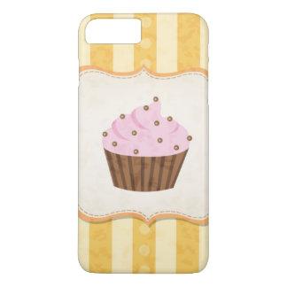 Coque iPhone 8 Plus/7 Plus Arrière - plan vintage de petit gâteau