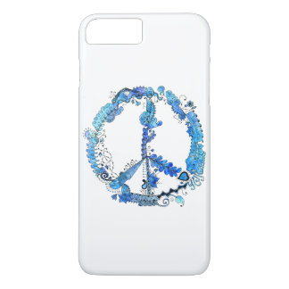 Coque iPhone 8 Plus/7 Plus Art Artsy illustré de stylo de signe de paix avec