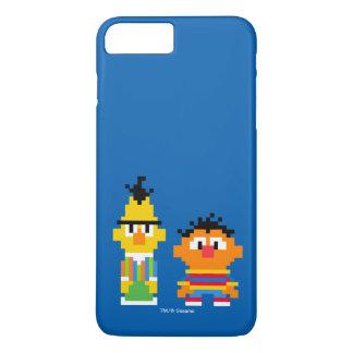 Coque iPhone 8 Plus/7 Plus Art de pixel de Bert et d'Ernie