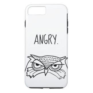 Coque iPhone 8 Plus/7 Plus Art minimaliste ironique drôle fâché de cool de