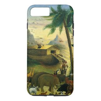 Coque iPhone 8 Plus/7 Plus Art populaire victorien vintage, l'arche de Noé