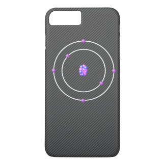Coque iPhone 8 Plus/7 Plus Atome de carbone avec l'arrière - plan de fibre de