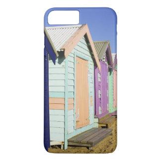 Coque iPhone 8 Plus/7 Plus Baigner des boîtes, plage moyenne de Brighton,