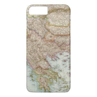 Coque iPhone 8 Plus/7 Plus Balkanhalbinsel - carte de péninsule balkanique