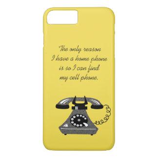 Coque iPhone 8 Plus/7 Plus Bande dessinée élégante vintage de rétro téléphone