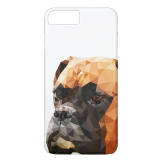 Coque iPhone 8 Plus/7 Plus Bas poly art de boxeur