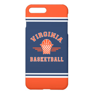 Coque iPhone 8 Plus/7 Plus Basket-ball du logo | de cavaliers de la Virginie