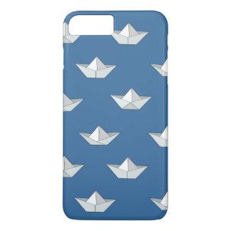 Coque iPhone 8 Plus/7 Plus Bateaux d'origami sur le motif de l'eau