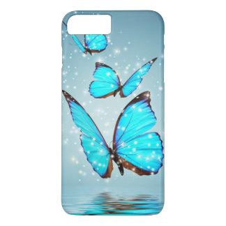 Coque iPhone 8 Plus/7 Plus beau papillon bleu