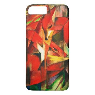 Coque iPhone 8 Plus/7 Plus Beaux-arts de cru de renards rouges de Franz Marc