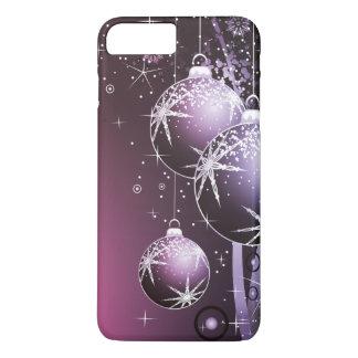 Coque iPhone 8 Plus/7 Plus Belle conception pourpre de Noël