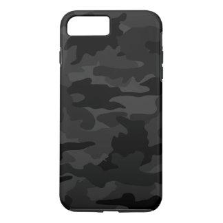 Coque iPhone 8 Plus/7 Plus Biens frais noirs et de gris de Camo de camouflage