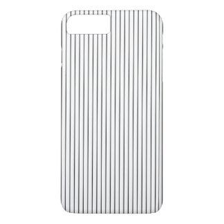 Coque iPhone 8 Plus/7 Plus Blanc noir chic élégant barré