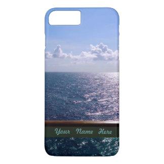 Coque iPhone 8 Plus/7 Plus Bleu d'océan personnalisé