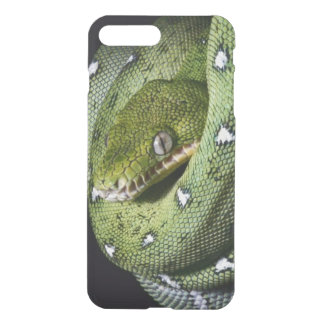 Coque iPhone 8 Plus/7 Plus Boa vert de serpent vert d'arbre en Bolivie