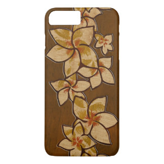 Coque iPhone 8 Plus/7 Plus Bois hawaïen de Faux de Plumeria de Melia