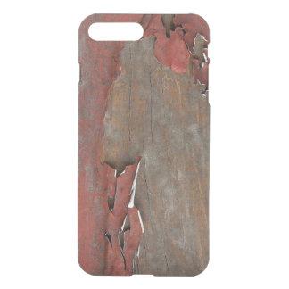 Coque iPhone 8 Plus/7 Plus Bois rouge vintage de grange