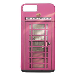 Coque iPhone 8 Plus/7 Plus Boîte rose Girly drôle de téléphone des Anglais