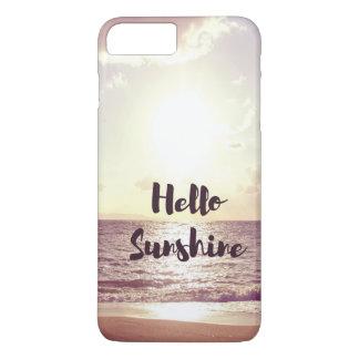 """Coque iPhone 8 Plus/7 Plus """"Bonjour citation de photo de soleil"""""""