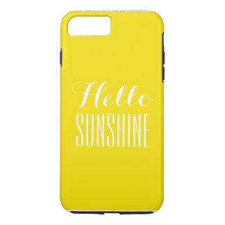 Coque iPhone 8 Plus/7 Plus Bonjour soleil je téléphone la couverture plus de