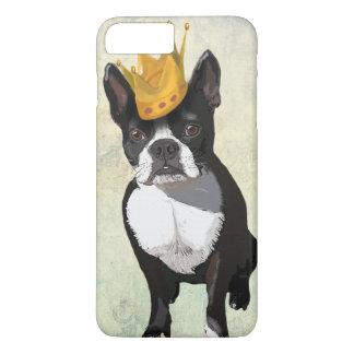 Coque iPhone 8 Plus/7 Plus Boston Terrier et couronne