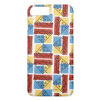 Coque iPhone 8 Plus/7 Plus Bouclier de Superman avec des couleurs