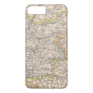 Coque iPhone 8 Plus/7 Plus Brandebourg, carte d'atlas de Posen
