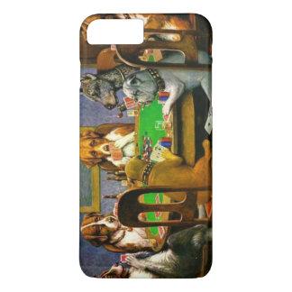 Coque iPhone 8 Plus/7 Plus C.M. Chiens de Coolidge jouant au poker