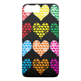 Coque iPhone 8 Plus/7 Plus Caisse rose de portable de manie