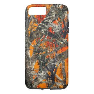 Coque iPhone 8 Plus/7 Plus Camo orange lourd