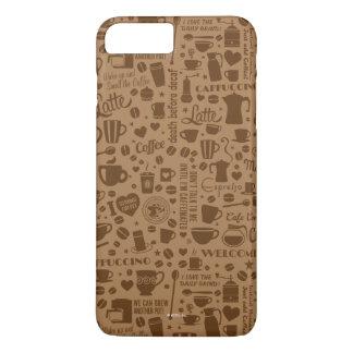 Coque iPhone 8 Plus/7 Plus Carré de motif de café