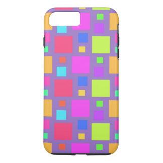 Coque iPhone 8 Plus/7 Plus Carrés multicolores 2011