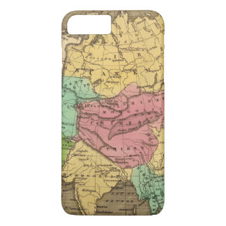 Coque iPhone 8 Plus/7 Plus Carte 2 d'atlas couleur de main de l'Asie