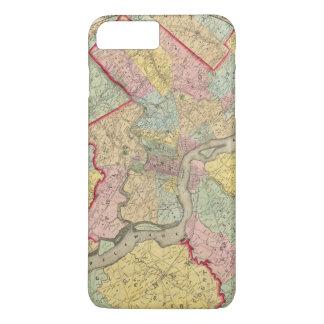 Coque iPhone 8 Plus/7 Plus Carte autour de la ville de Philadelphie