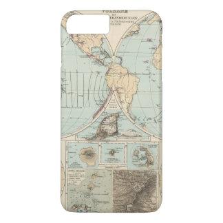 Coque iPhone 8 Plus/7 Plus Carte d'atlas de DES Erdinnern de Thatigkeit