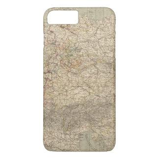 Coque iPhone 8 Plus/7 Plus Carte d'atlas de l'Allemagne
