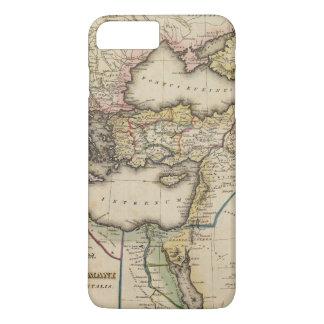 Coque iPhone 8 Plus/7 Plus Carte d'atlas de Moyen-Orient