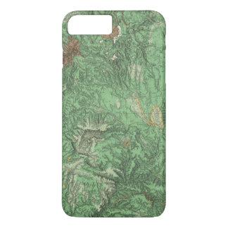 Coque iPhone 8 Plus/7 Plus Carte de classification de terre de la Californie