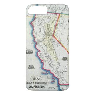 Coque iPhone 8 Plus/7 Plus Carte de la Californie