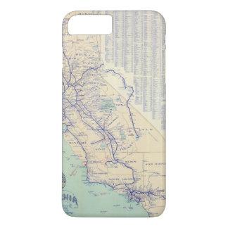 Coque iPhone 8 Plus/7 Plus Carte de la Californie 4