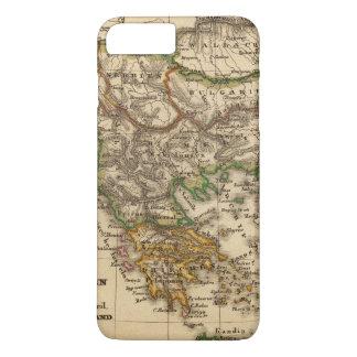 Coque iPhone 8 Plus/7 Plus Carte de la Turquie et de la Grèce