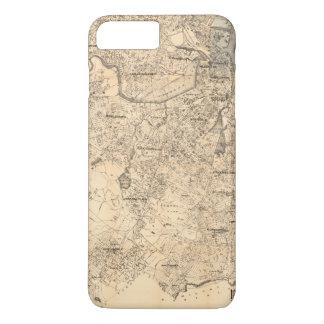 Coque iPhone 8 Plus/7 Plus Carte de la ville de Boston et de Vicinity (1907)