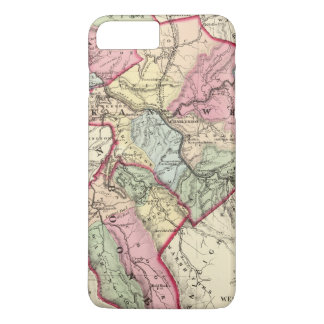 Coque iPhone 8 Plus/7 Plus Carte de Putnam, Kanawha, comtés de Boone