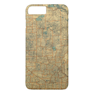 Coque iPhone 8 Plus/7 Plus Carte de route du Minnesota