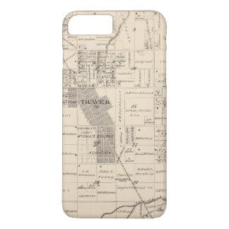 Coque iPhone 8 Plus/7 Plus Carte de section de T17S R23E Tulare County