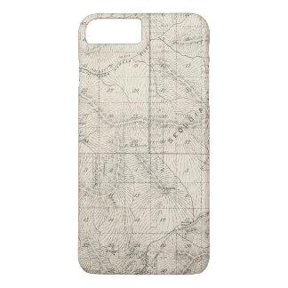 Coque iPhone 8 Plus/7 Plus Carte de section de T1819S R2930E Tulare County